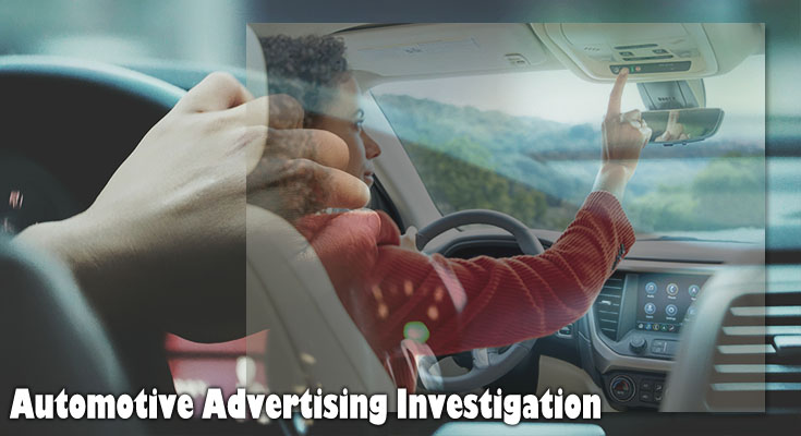 Use of Online Sources for Automotive Advertising Investigation
